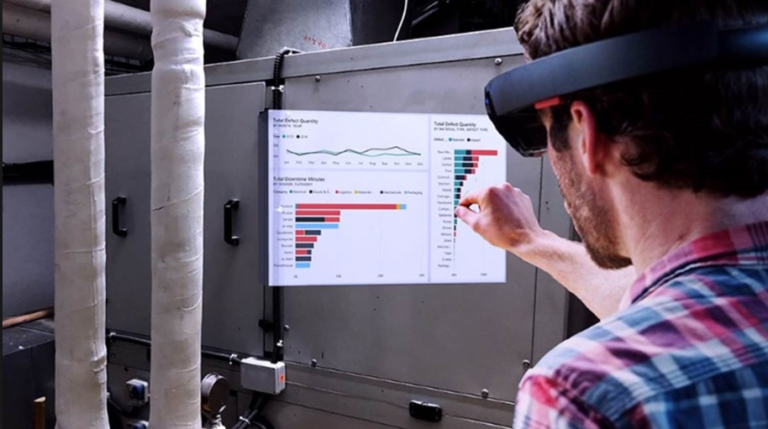 Augmented reality with Power-BI reports